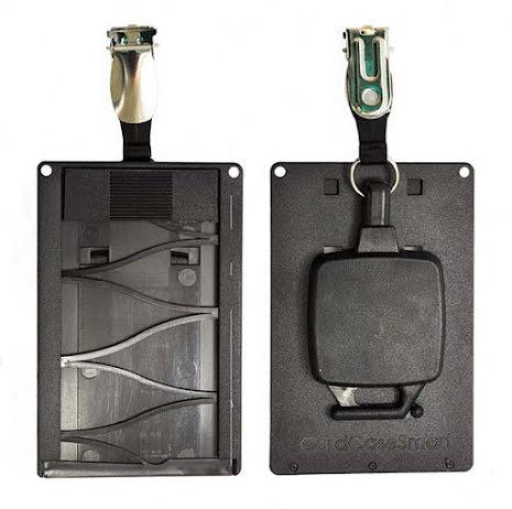 Magnetskortshållare vertikal byxklämma