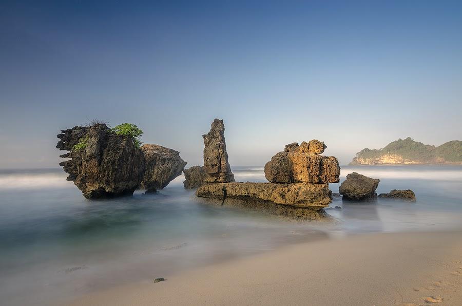 Hidden Beauty Beach by Chusnul Muchlis - Landscapes Sunsets & Sunrises