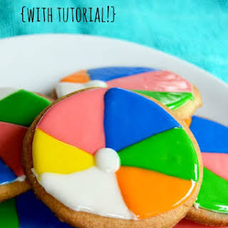 Beach Ball Cookies.