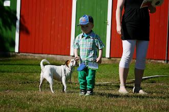 Photo: Rasmus Satamo & Yacatis Metsänhenki (Lapsi ja koira -kilpailu)