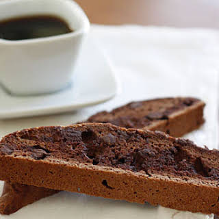 Chocolate Chocolate Chip Biscotti.