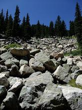 Photo: Talus slope on the way to Santa Fe Baldy
