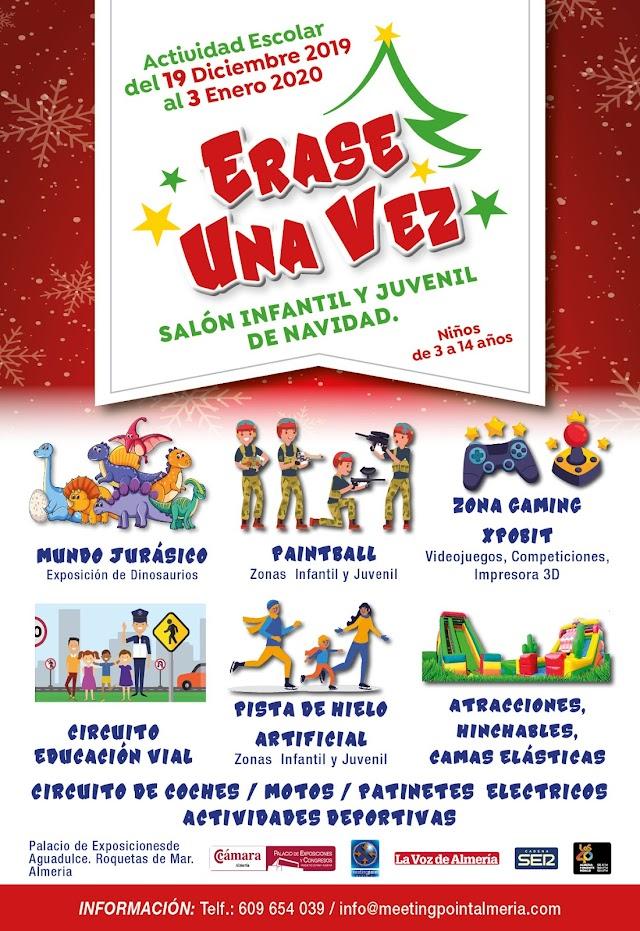 Cartel Érase una Vez, salón infantil y juvenil en Navidad.