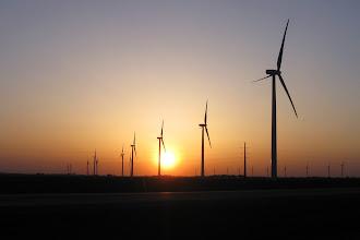 Photo: Wind Farm Sunset I-65