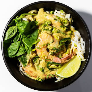 Shrimp and Coconut Curry with Rice Noodles.