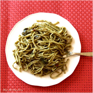 Ginger Coconut Spinach Linguine Recipe