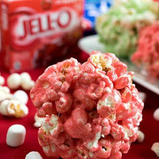 Festive JELL-O Popcorn Balls
