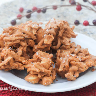 Salted Maple Cashew Haystacks