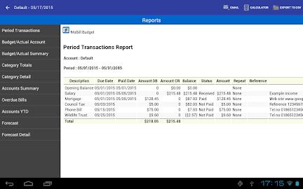 MoBill Budget and Reminder Screenshot 11
