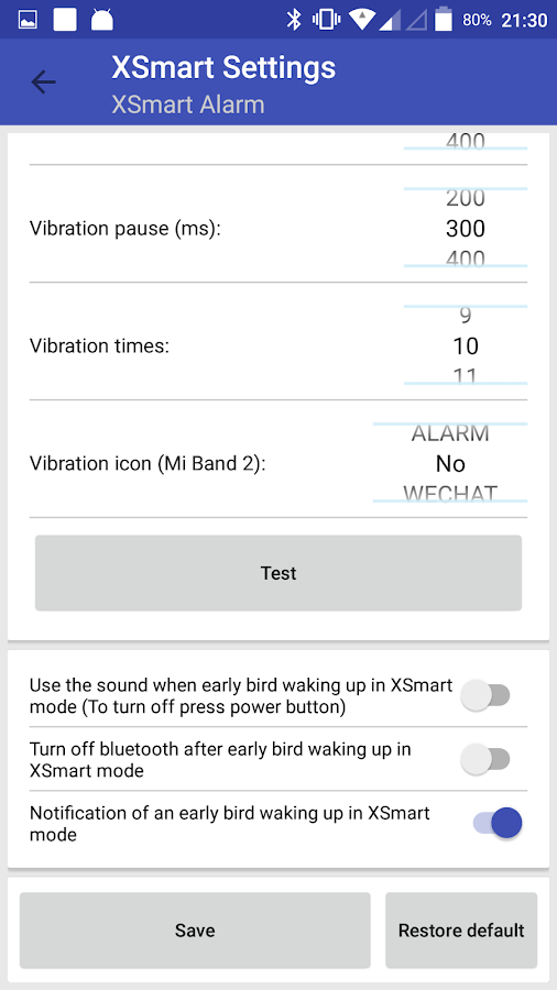 Mi Band Smart Alarm (XSmart)- screenshot