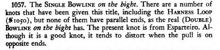Single Bowline on the Bight 1057