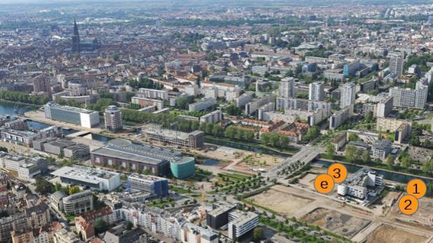 Dans l'éco-quartier du Danube
