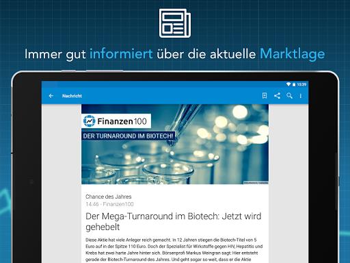 Finanzen100 - Börse, Aktien & Finanznachrichten  screenshots 11
