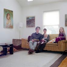 Photo: title:Katie Fitch, Joe, Delila & Winona Wardwell, Jamaica Plain, MA date: 2010 relationship: friends, art, met through Gideon Bok years known: 10-15