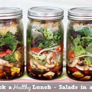 Salad in a Jar with Basil Balsamic Dressing