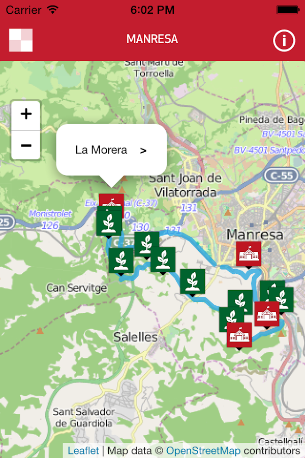 Itineraris Manresa- screenshot