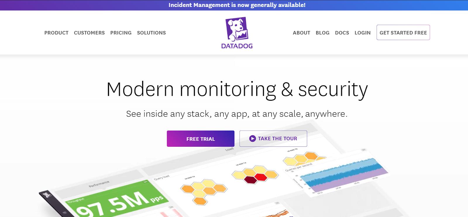 Datadog Server monitoring software