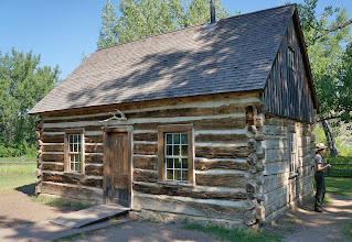 Photo: At Roosevelt's request, ranch managers Sylvane Ferris and Bill Merrifield built a one and one-half story cabin complete with a shingled roof and root cellar. The steeply pitched roof, an oddity on the northern plains, created an upstairs sleeping loft for the ranch hands.