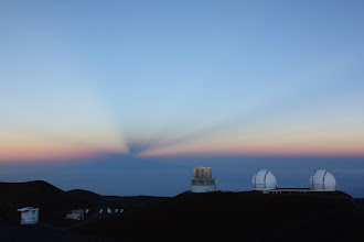 Photo: SMA (Submillimeter Array) hanging out down there on the left.