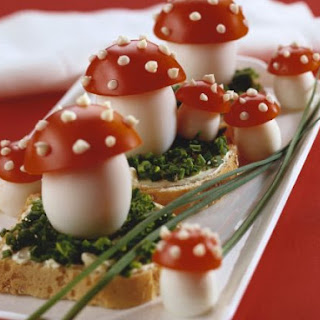 Egg and Tomato New Year Canapes Recipe