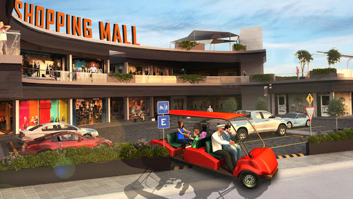 Shopping Mall Radio Taxi: Car Driving Taxi Games apkslow screenshots 2