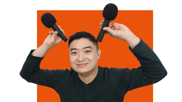 Woon Tan With Podcast Mics