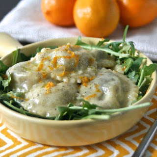 Meyer Lemon Ravioli with Caramelized Onion & Artichoke