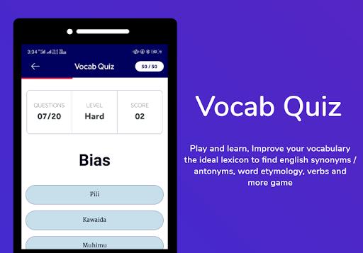 Swahili Dictionary & Translator Word Builder Quiz App Report