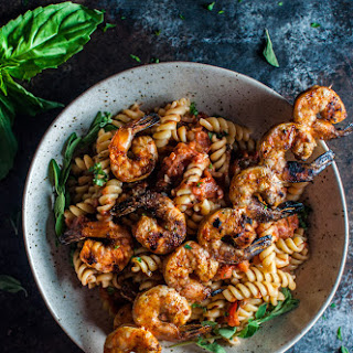 Spicy Pasta with Grilled Shrimp Recipe