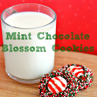 Mint Chocolate Blossom Cookies.