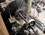 Photo: 80104's leading wheels on the lathe at Tyseley.  Photo (c) Colin Eyles