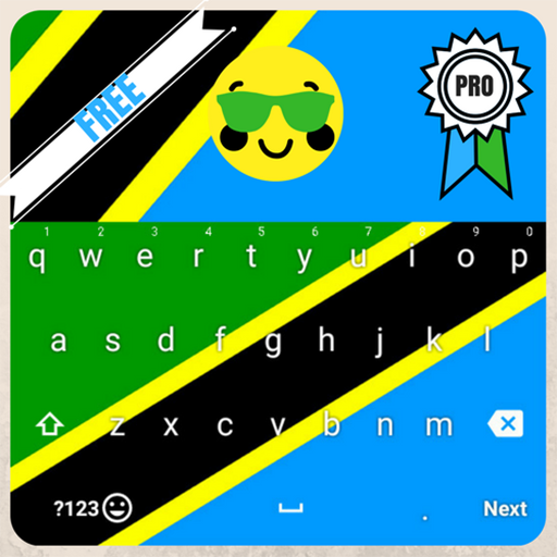 Keyboard Tanzania flag Theme & Emoji