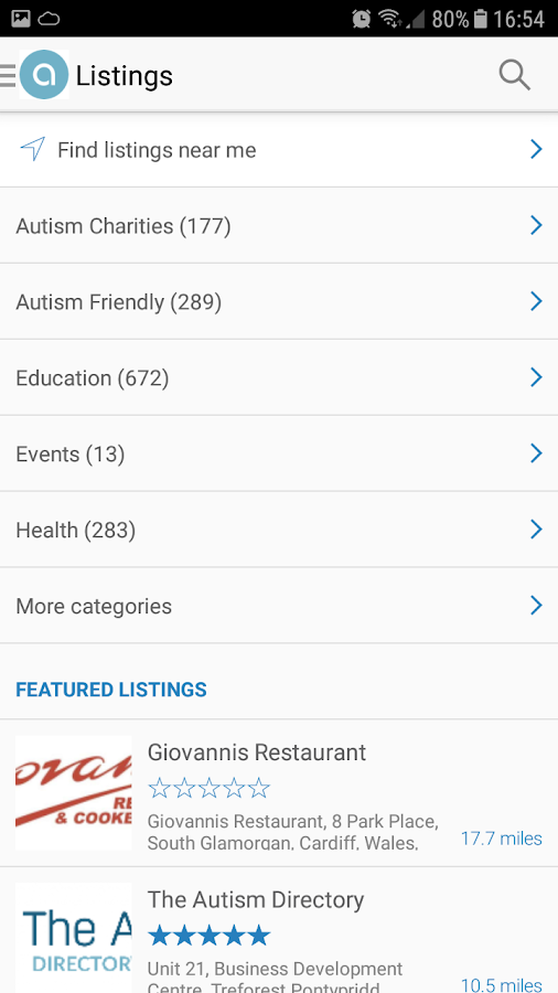 The Autism Directory- screenshot