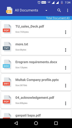 Document Manager & Viewer 1.1 screenshots 2
