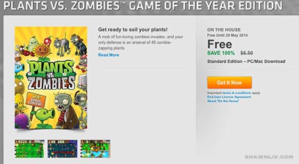Free Standard Edition – PC/Mac Download Plants vs. Zombies