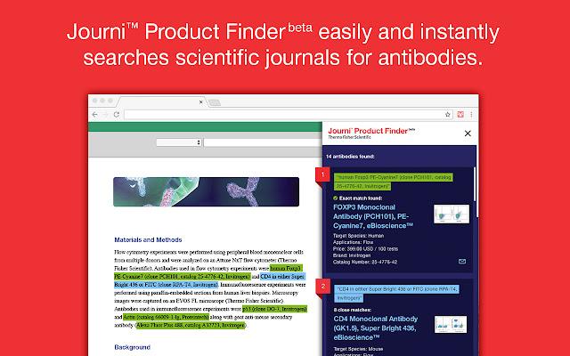 Journi™ Product Finder (beta)