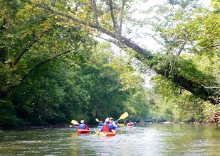 Photo: The gang heading down river