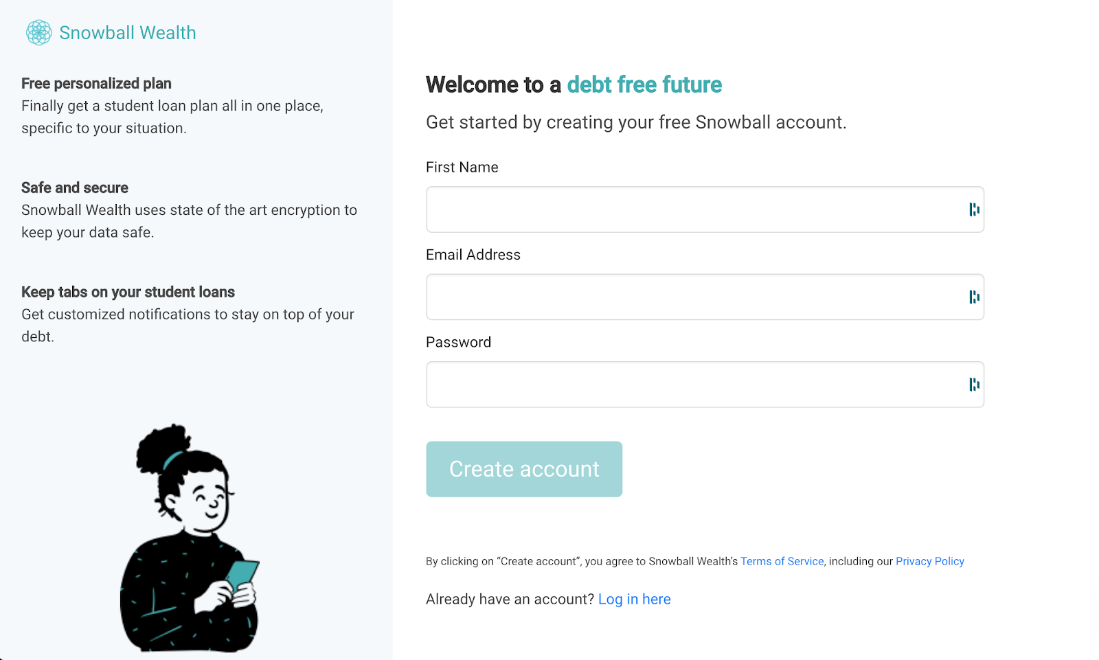 Tackle Student Loan with Snowball Wealth App Step 2