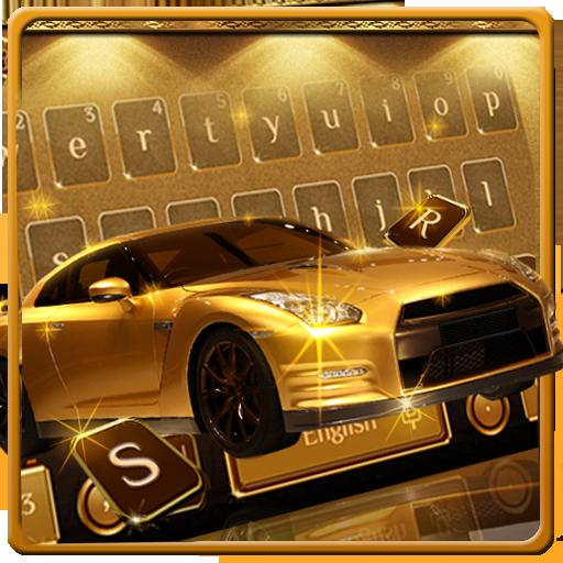 Gold Luxury Car Keyboard Theme