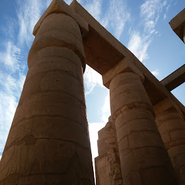 Egyptian Wonder by Nishtha C - Buildings & Architecture Public & Historical ( #egypt, #brown, #history, #monument, #sky )