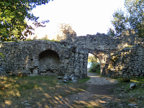 Photo: Butrint - City Walls on the channel side, 6th century AD