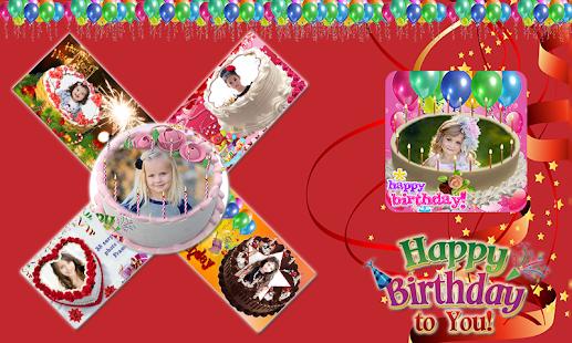 Birthday Photo Editing Cake screenshot