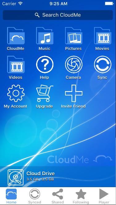 CloudMe- screenshot