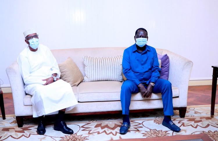 Somaliland President Musa Bihi Abdi met with the African Union convoy Raila Odinga on Tuesday, 15, 20120.