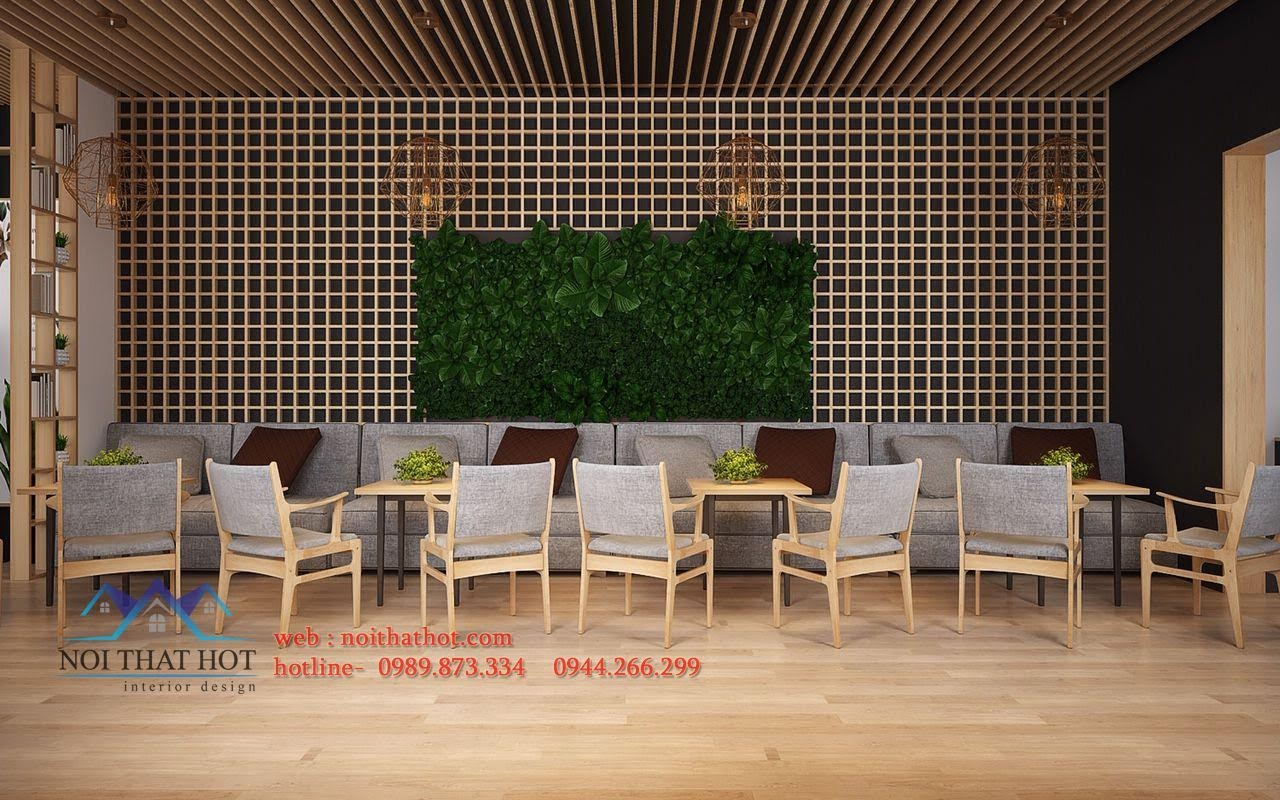 thiết kế quán trà sữa Samcha 4
