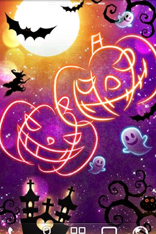 Halloween Neon ライブ壁紙