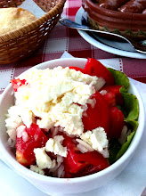 Photo: Serbian salad with goat cheese at ? Restaurant.  Oldest Cafe in Belgrade.