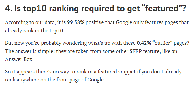 Position zéro Google étude ahref