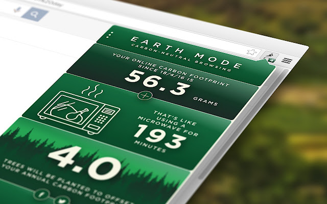 Earth Mode chrome extension