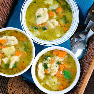 Easy Vegetable And Dumpling Soup.
